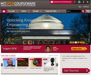 MIT opencourseware offers hundreds of MIT courses for free to anyone around the world.