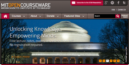 MIT OpenCourseWare is a free e-learning website for university students.